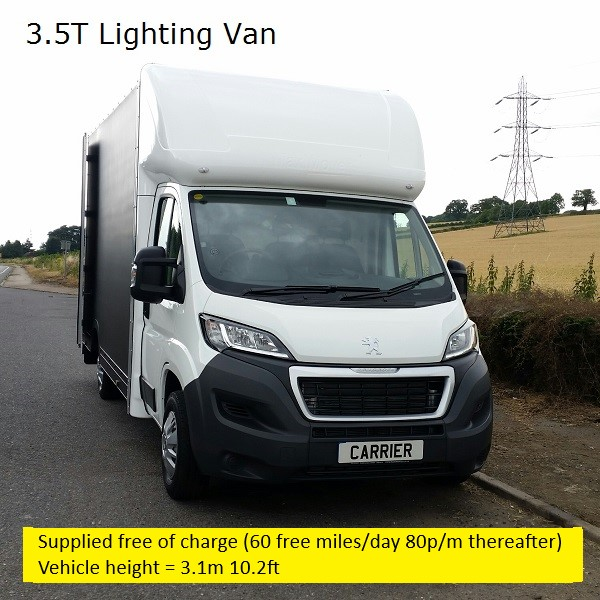 CARRIER-media Ltd Lighting Van